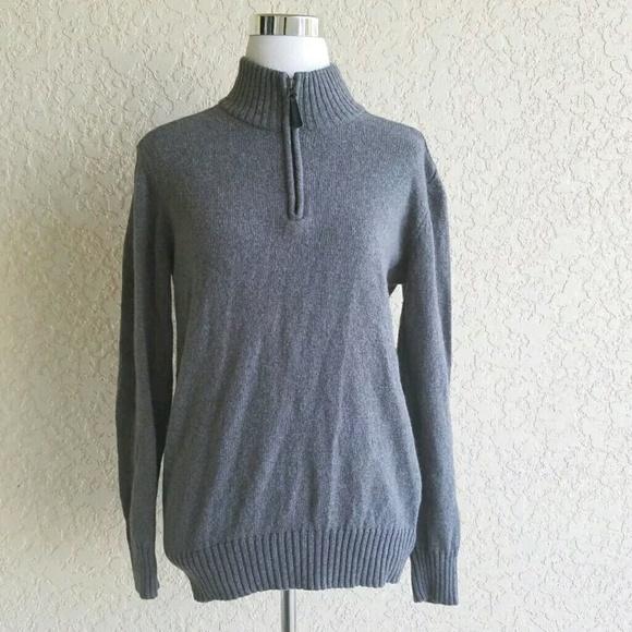 63053de38de Columbia Women sweater size M gray half zip collar